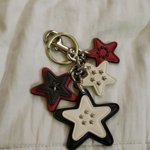 Coach stars key chain